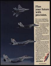 1989 U.S. AIR FORCE Officer Training - F15C Fighter Jet - VINTAGE MAGAZINE AD