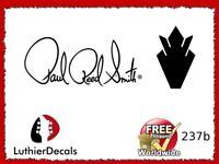 Gibson Paul Reed Smith Guitar Headstock Decal Restoration Waterslide Logo 237b