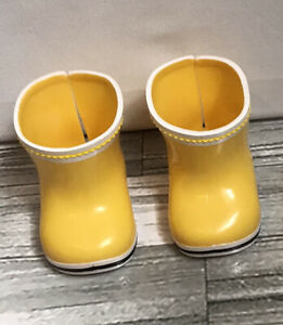 Baby Born Doll  Shoes - Zapf - Bright Yellow Boots - Rainy Days - Wellies