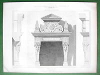 ARCHITECTURE PRINT : Germany Fireplace in Castle of Baden