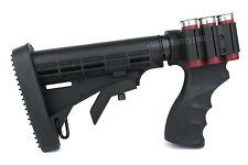 REMINGTON 870 Shotgun Pistol Grip 6 Position Tactical Stock w/ Rubber Butt Pad