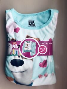 Girls The Secret life of Pets Pijama Set. Sz 4/5. New
