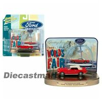 Johnny Lightning 1:64 Diorama Tin 1964 Ford Mustang Red World's Fair JLSP081-24