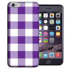 MUNDAZE Apple iPhone 6 Design Case - Purple White Plaid Cover