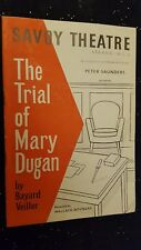 Savoy Theatre Programme THE TRIAL OF MARY DUGAN  PATRICIA BURKE CEC LINDER