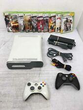 Microsoft Xbox 360 20Gb White Video Game Console W/10 games