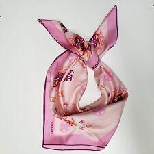 Chanel Silk Pink Shawl Stole Cc Print Scarf/Wrap NIB
