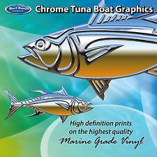 Chrome Tuna Graphics - set of 300mm Boat Graphics