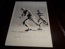 1961 TOPPS ORIGINAL ART 1/1 ARTWORK FOOTBALL CARD BACK #81 DAVE MIDDLETON VIKING