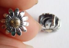 Sterling silver Pandora charms beads daisy yellow flower 925 Bracelet UK