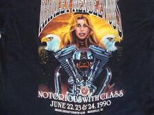 Vintage 90 Harley Rendezvous chopper eagle motorcycle paper thin 3d T shirt M L