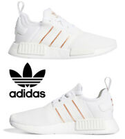 Adidas Originals NMD_R1 Shoes Women's Casual Running Sneakers White Rose Gold