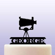 Personalised Acrylic Vintage Camera Cake Topper Decoration & Keepsake Gift