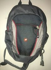Swiss Gear Mini Sling Type Backpack Grey Red  pockets adjustable 11 w x 13.5 h