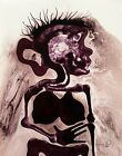 Tonito Original art painting.Organic Expressionism.Realism.COLONOSCOPY WORRIES