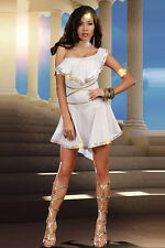 Womens Sexy ROMAN VIRGIN GRECIAN WARRIOR Fancy Dress Costume Outfit