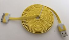 Heavy Duty strong apple iphone 4 4S Ipod Ipad 2 3 USB lead cable flat 3M yellow