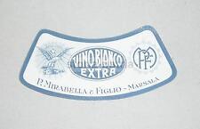 ENOLOGIA_VINI_VINO BIANCO_MARSALA_MIRABELLA_DECORATIVA ETICHETTA PUBBLICITARIA