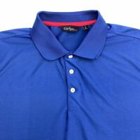 Walter Hagen Polo Shirt Men's Large Short Sleeve Blue Casual 100% Polyester