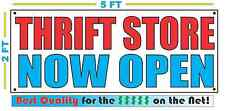 THRIFT STORE NOW OPEN Banner Sign NEW Larger Size Best Quality for The $$$