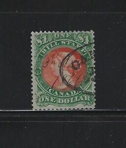 CANADA - #FB34 - $1 USED QUEEN VICTORIA BILL STAMP