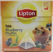 Lipton Black Tea BLUEBERRY MUFFIN tea -1 box/ 20 tea bags