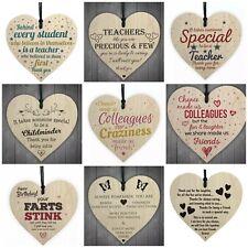 Hanging Heart Teacher Gift Teacher Present Thank You Gifts Hanging Wood 1pc