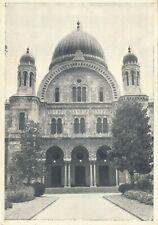 Vintage Postcard-Florence The Jewish Sinagogue Tempio Israelitico Temple Juif