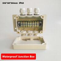 Waterproof Weatherproof Junction Box Electric Enclosure Case ABS AU IP65 8 Pin