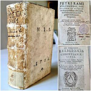 Old & rare 1592 Phillippe de Mornay : De Veritate Religionis Christianae ( +1 )