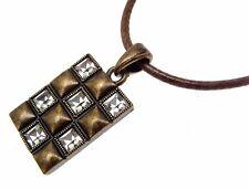 Square Necklaces Leather Cord Necklaces Fashion Necklaces