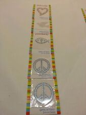 LOT OF 5 RHINESTONE PARTY IRON ON TRANSFERS by Faithworks Gems of faith free shp