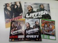 LITFIBA PIERO & GHIGO 1 PASS AUTO + 3 pass + 2 postcards