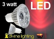 6 Qty. PAR16 GU 10 LED Rave Red 3 x 1 watt GU10 PAR 16