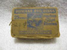 Vintage Box-25 Humane Pig & Shoat Rings by Humane Hog Ring Co. Winona Lake,Ind.!