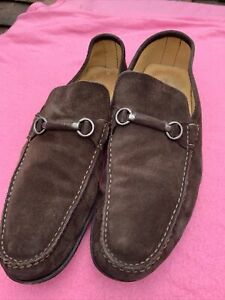 Mens Russell And Bromley Brown Suede Shoes Size 45/11 (126BB)