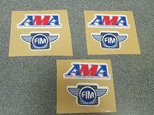 AMA AMERICAN MOTORCYCLIST ASSOCIATION FIM MOTORSPORTS STICKERS NUMBER PLATE PK