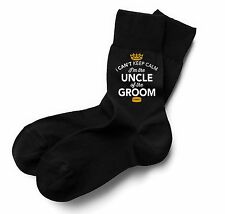 Uncle Of The Groom Socks Wedding Keepsake Gift Stag Party Present Cold Feet Him