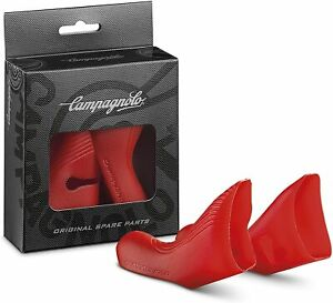Pair Shifter Covers Hand Guards Bike Race Campagnolo EC-SR500R Rubber Hoods Red