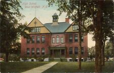 1911 High School West Winfield NY Herkimer County Vintage POSTCARD