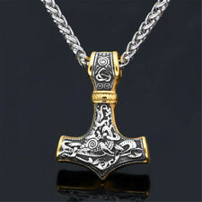 Collar De Doble Cabeza de hacha Vikingo eslavos hombres Colgantes Norse Símbolo Joyería