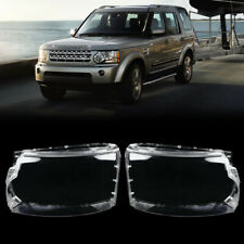 Pair Headlight Headlamp Lens Cover For Land Rover Discovery 4 LR4 2010-2013