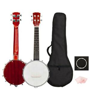 New Hot Sale High Quality Sapele 4 String Banjo with Bag and Accessories