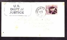 US O28 6c Justice Department Official on Small Cover w/ Corner Card SCV $1200