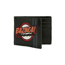 BIG BANG THEORY BAZINGA RUBBER PATCH BI-FOLD WALLET LICENSED POP CULTURE LEATHER