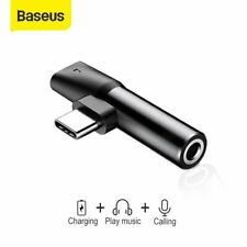 Baseus 3.5mm Aux Jack Audio Earphone Adapter Charger for iPhone 7 8 Plus XS Max