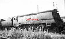 PHOTO  SR BULLEID 'WEST COUNTRY' PACIFIC 34006 'BUDE' ALISBURY 7/67  IS LAID ASI
