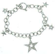 Made With Swarovski Crystal Set Of Five Stars Charm Charming New Bracelet