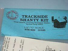 """G"" scale - 1/2"" Big Train Backshop kit: Wood Trackside Shanty Kit C-10/sc"