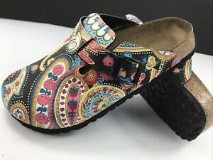 NEW Papillio Birkenstock Paisley Floral Mules Clogs Women 7 NO BOX Fast Shipping